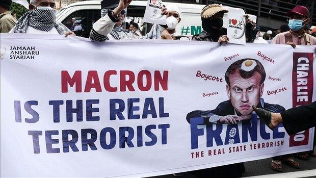 معترضان در اندونزی خواهان تحریم کالاهای فرانسوی شدند